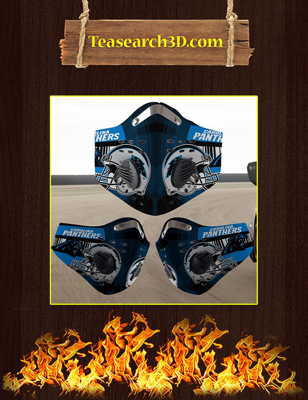 Carolina Panthers filter face mask pack 5