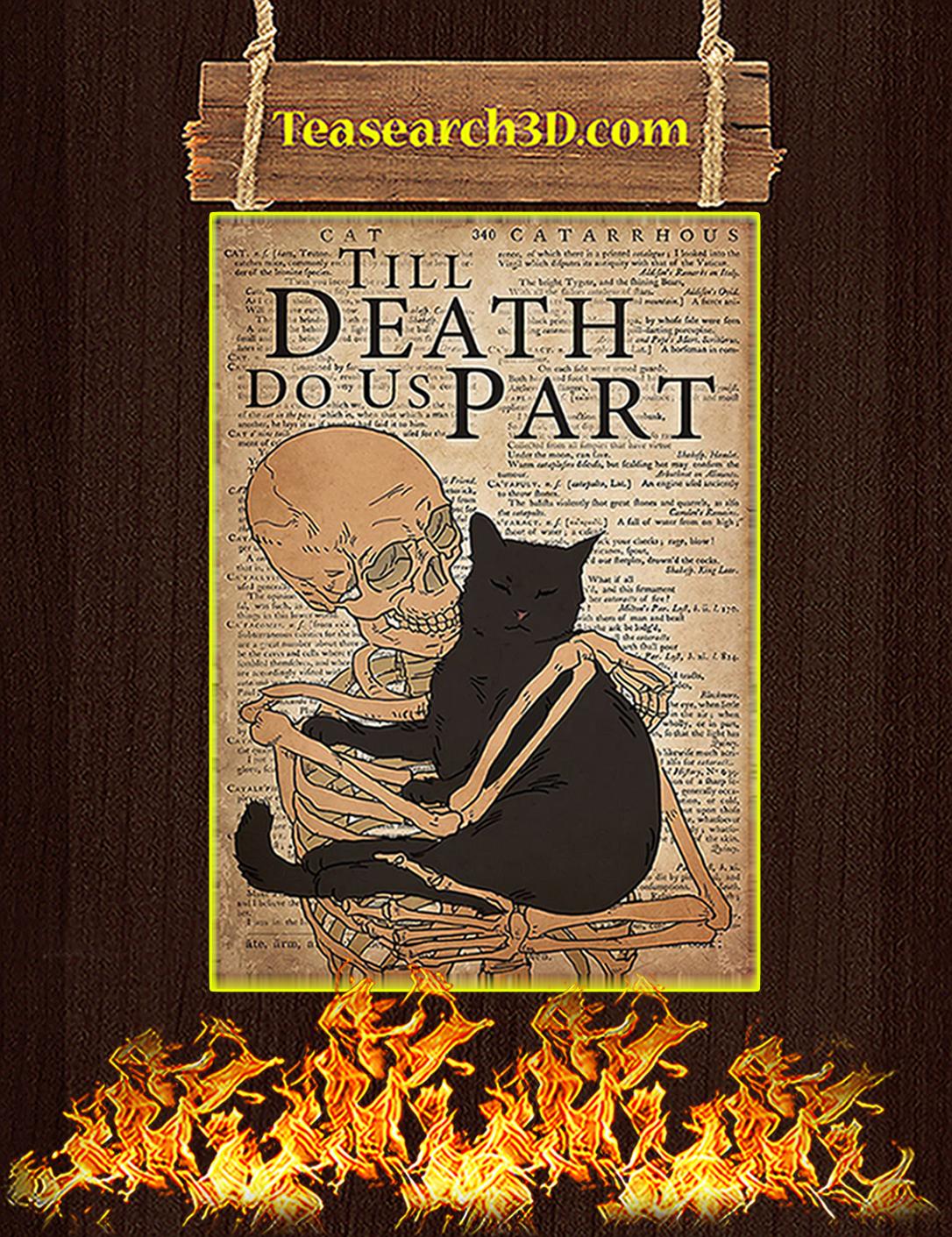Cat till death do us part poster A2