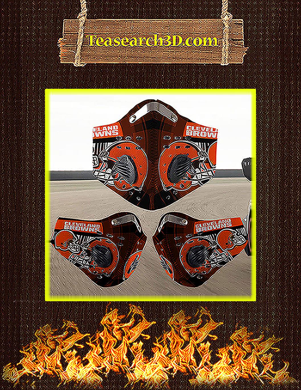 Cleveland Browns filter face mask pack 3