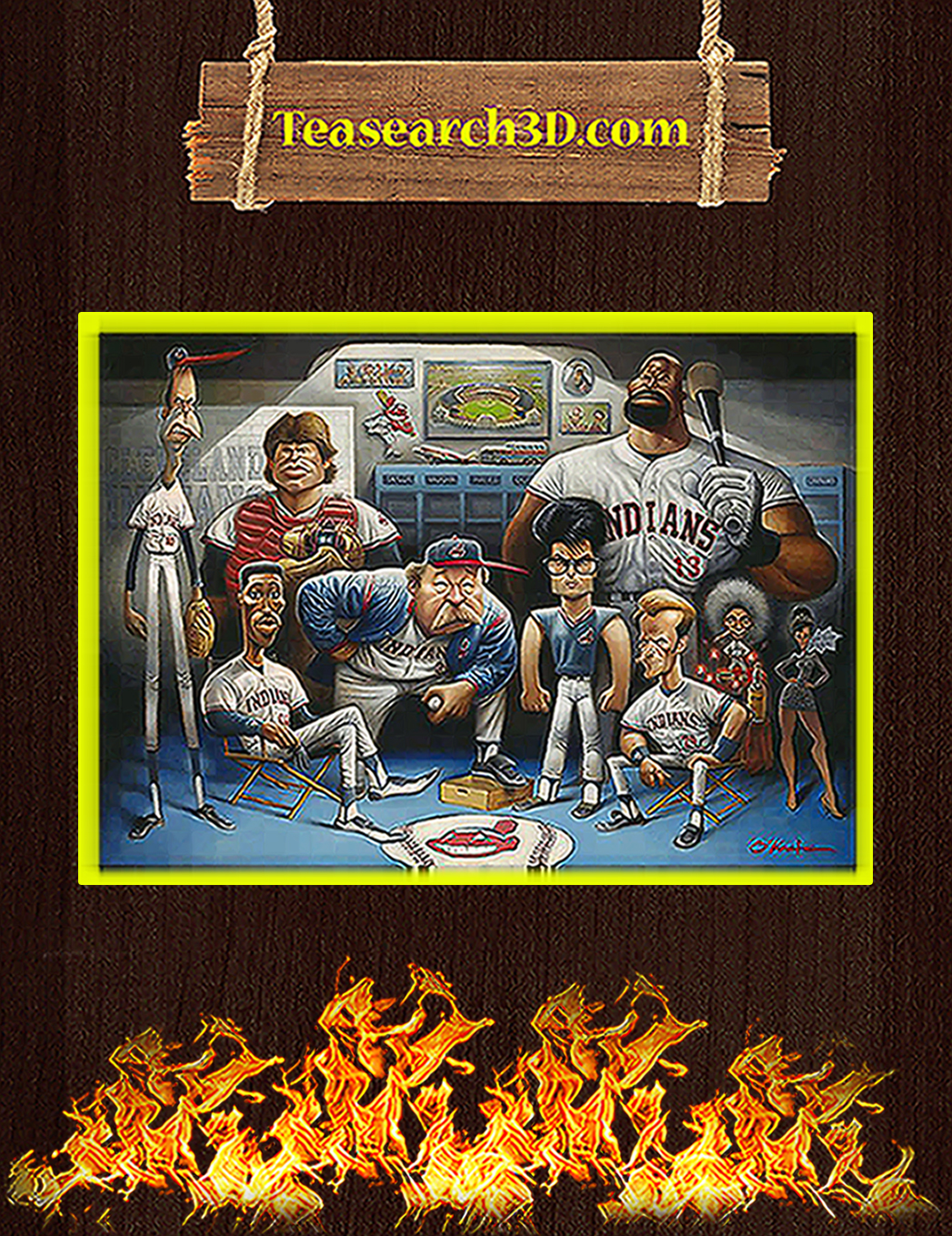 Cleveland Indians the tribe a tribute to major league poster A1