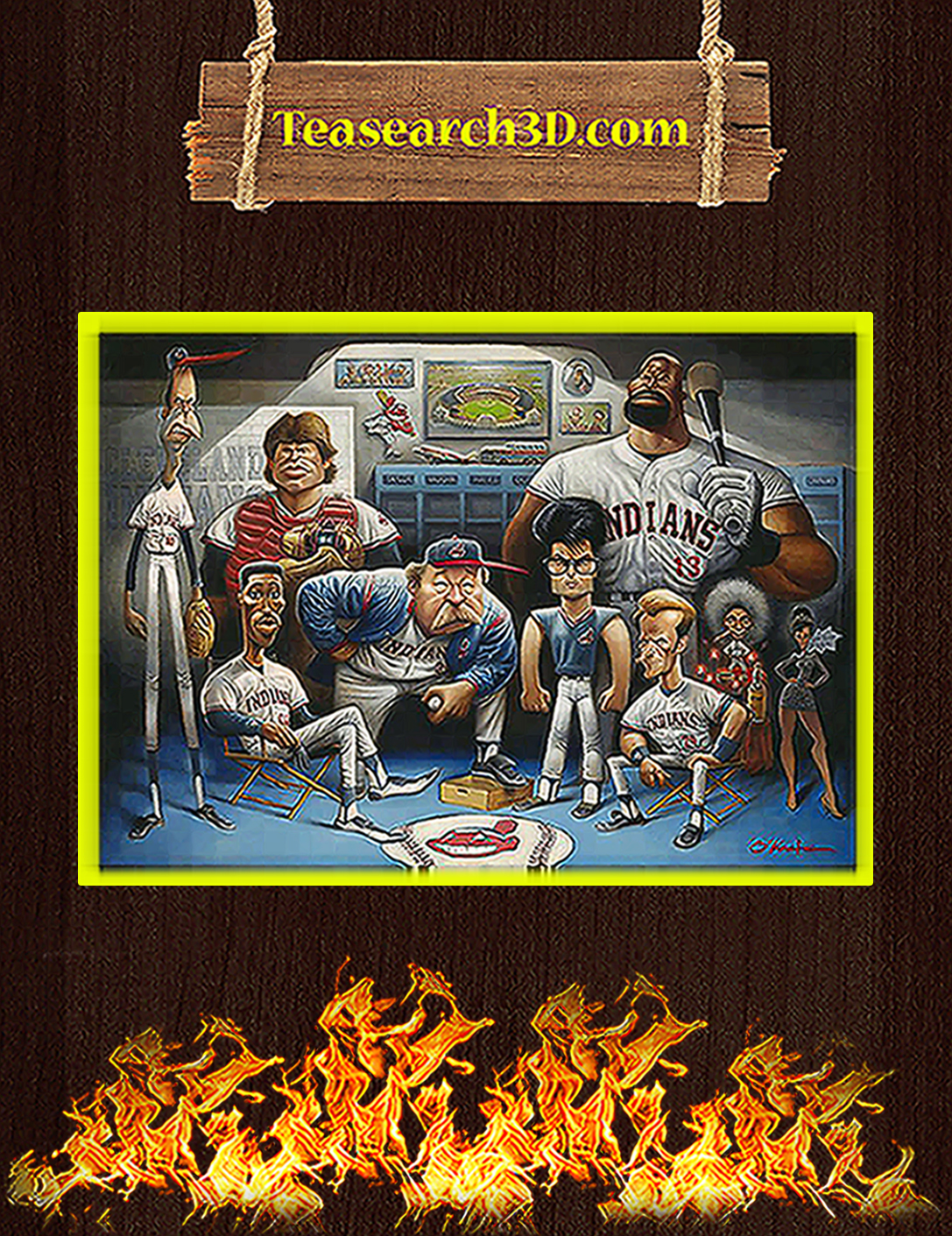Cleveland Indians the tribe a tribute to major league poster A2
