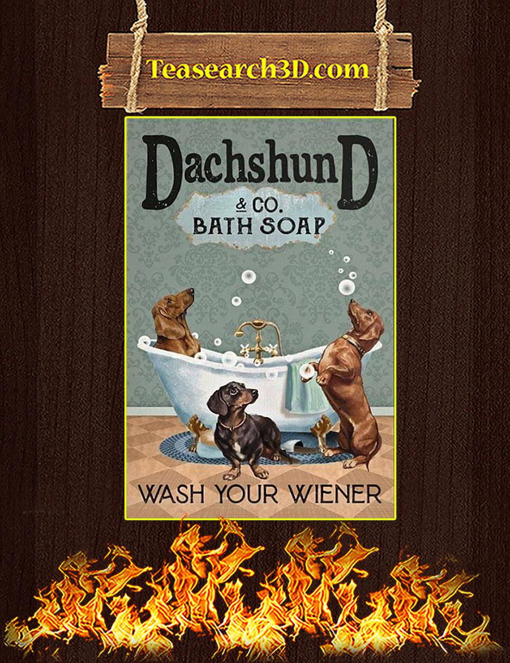 Dachshund co bath soap wash your wiener canvas prints small
