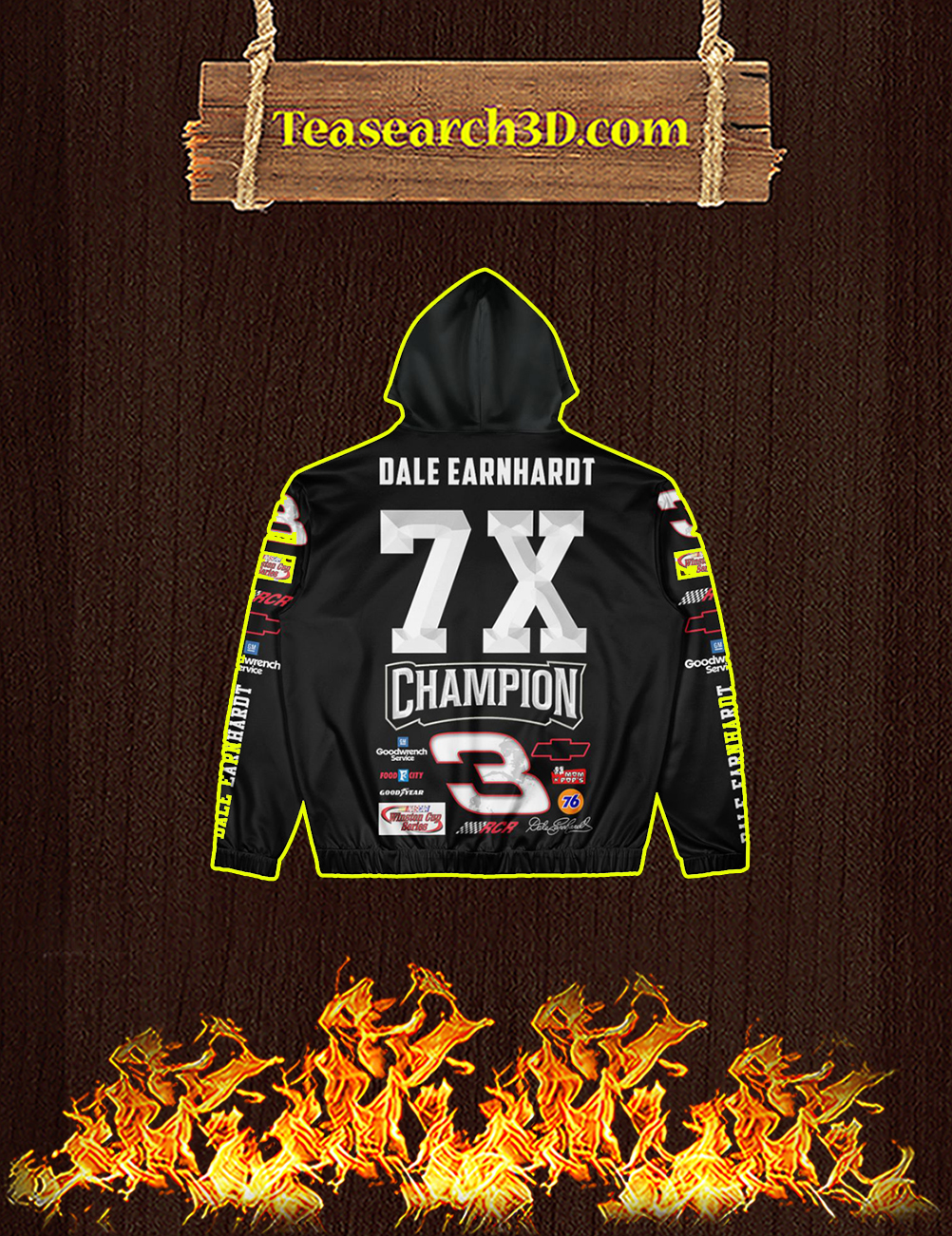 Dale earnhardt 3d All Over Print Hoodie