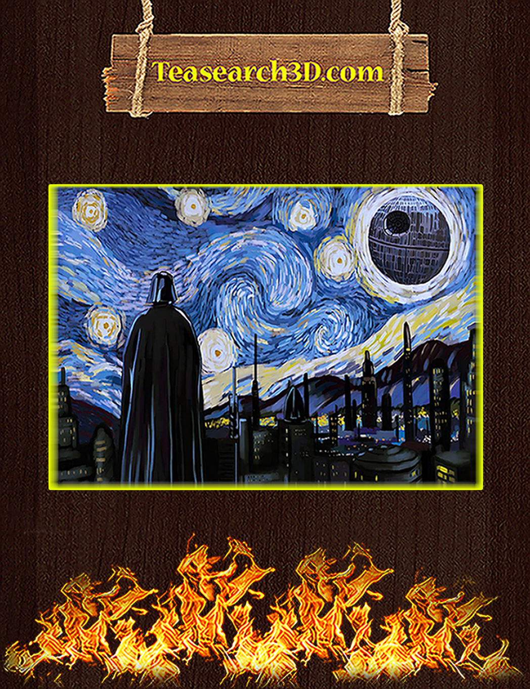 Darth vader starry night poster A1