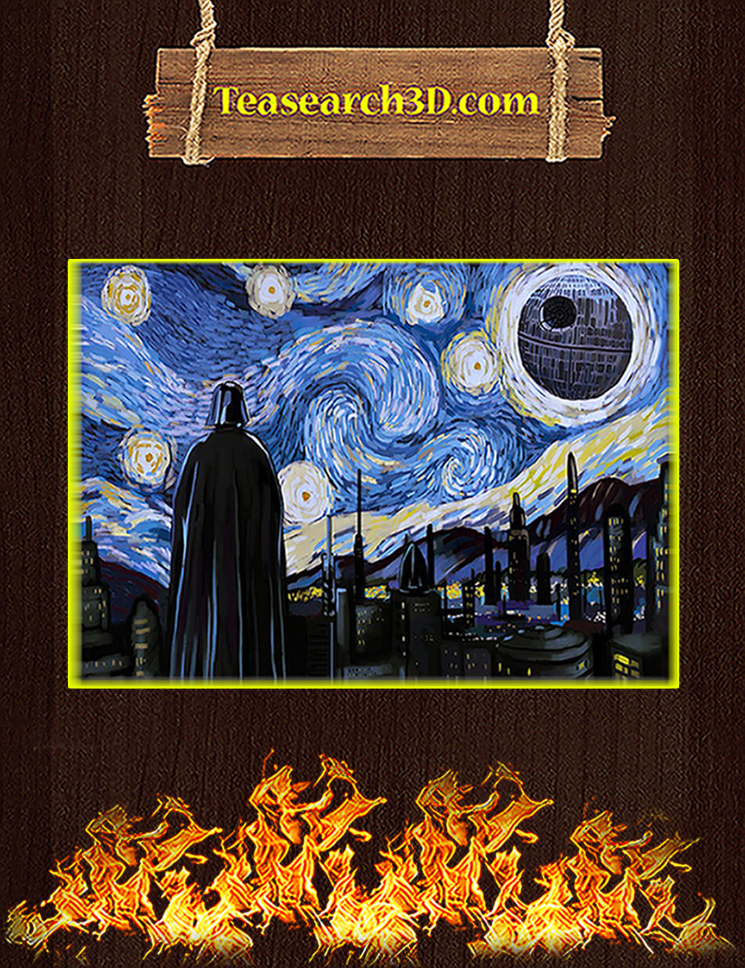 Darth vader starry night poster A2