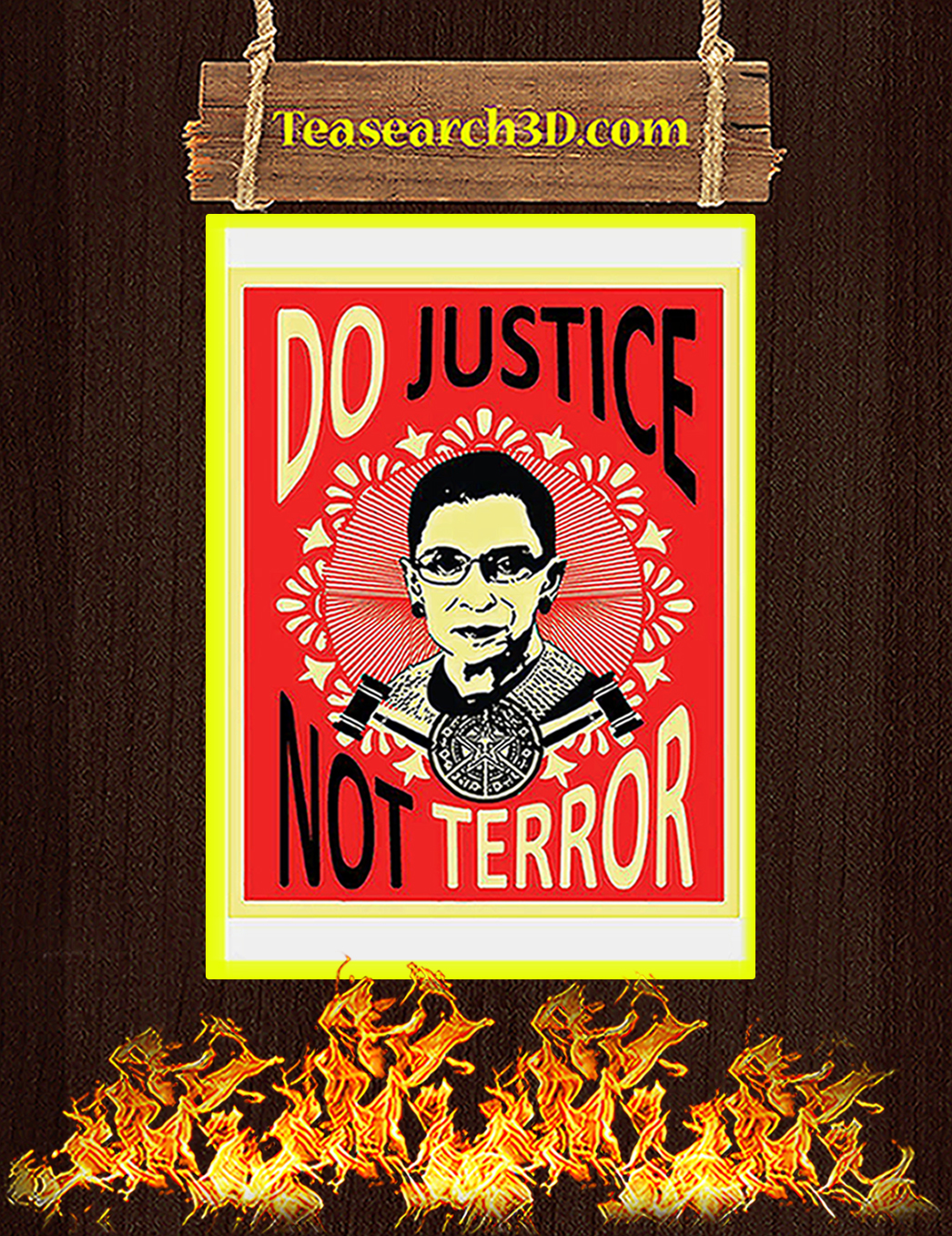 Do justice not terror Ruth bader ginsburg poster A1