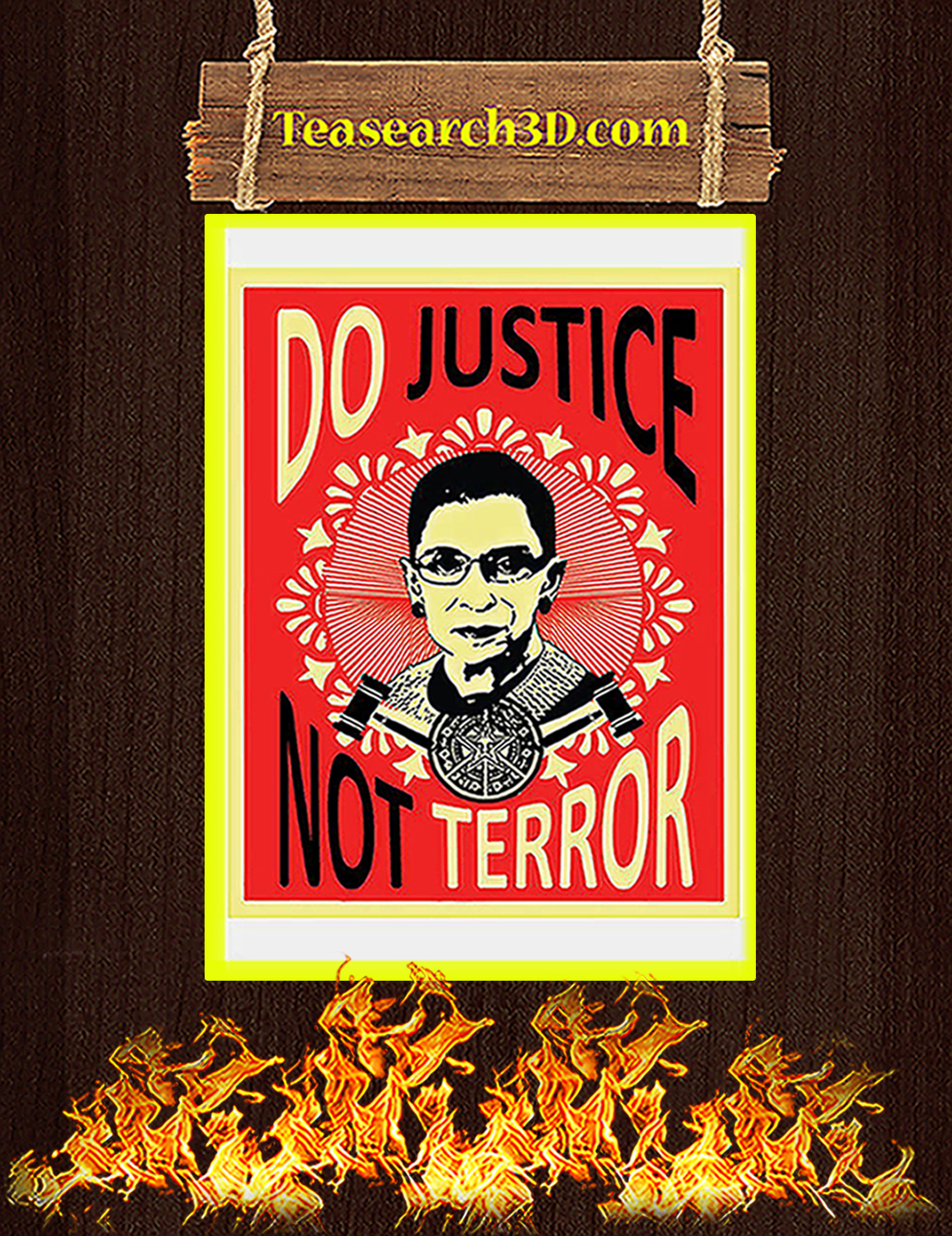 Do justice not terror Ruth bader ginsburg poster A3