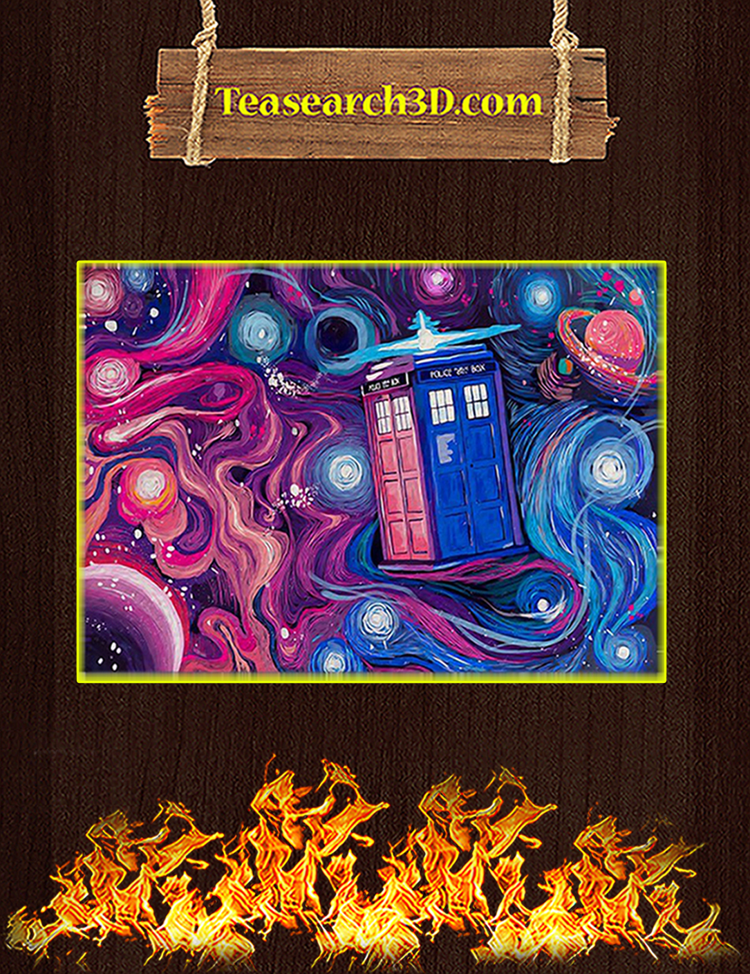 Doctor who tardis universe starry night poster A2
