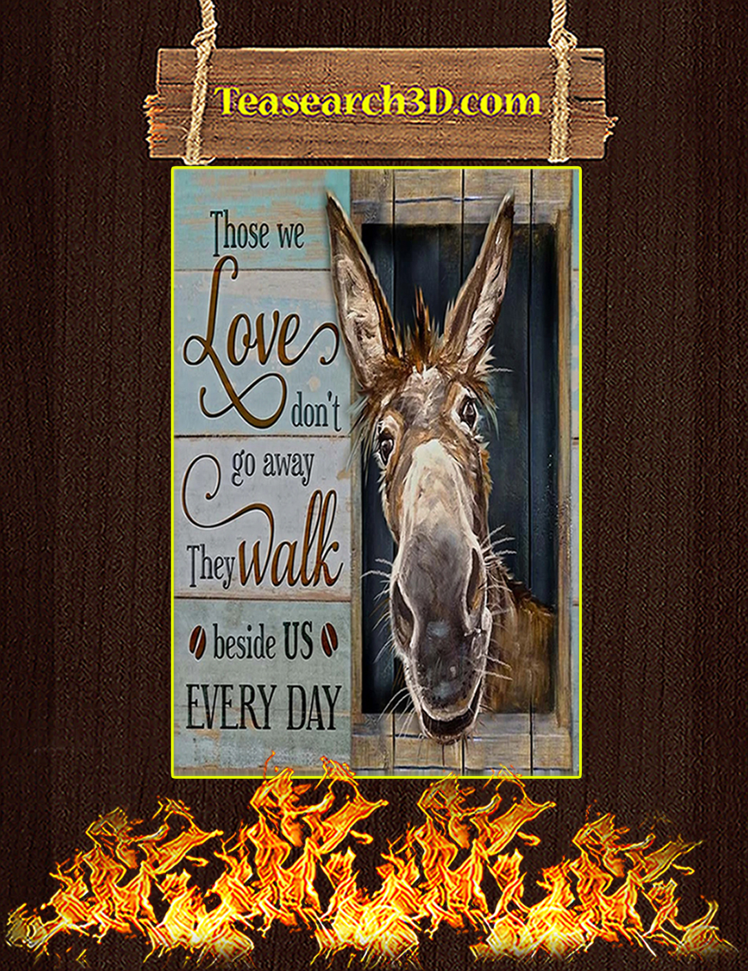Donkey Those we love don't go away canvas prints medium