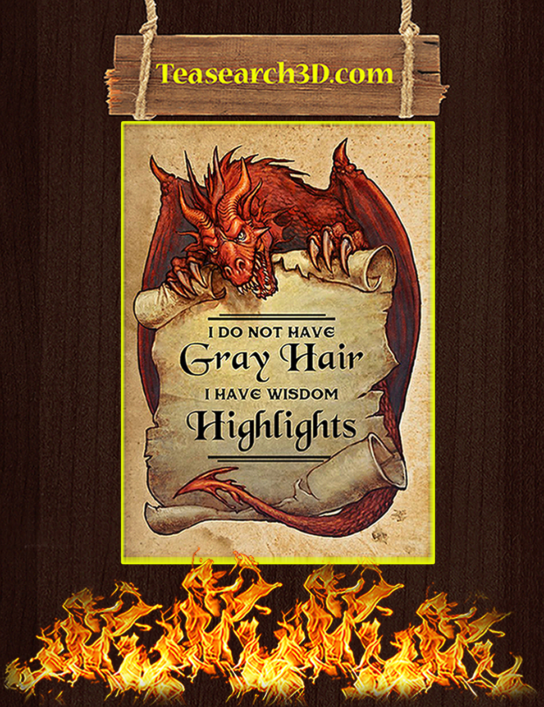 Dragon I do not have gray hair poster A2