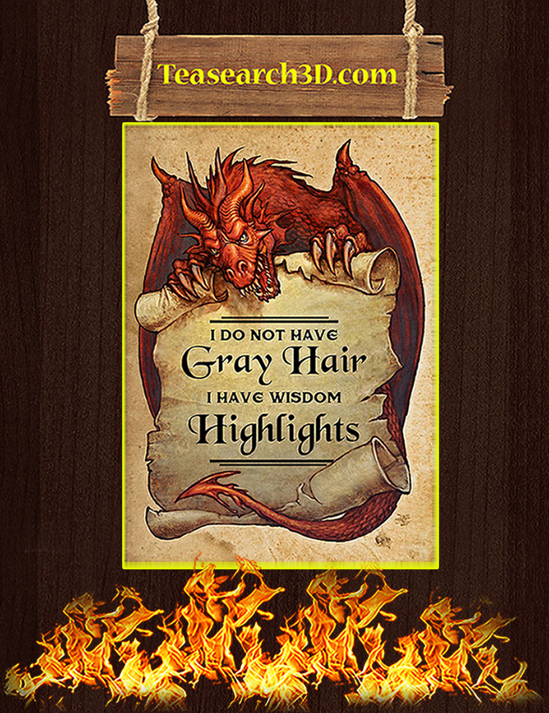 Dragon I do not have gray hair poster A3