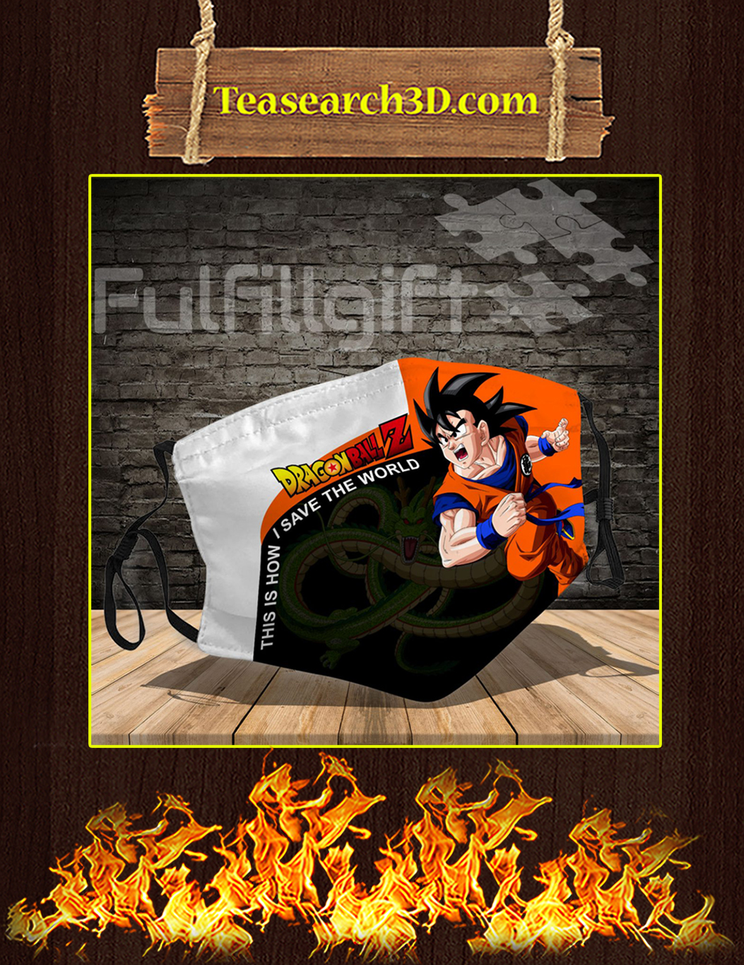 Dragon ball z 3d face mask pack 3
