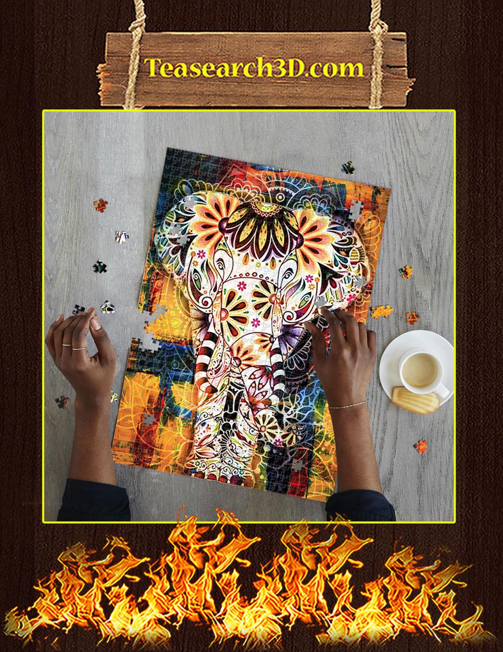 Elephant Mandala Jigsaw Puzzle pic 1
