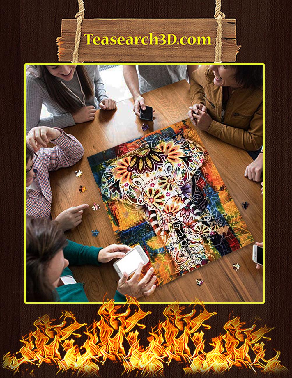 Elephant Mandala Jigsaw Puzzle pic 2