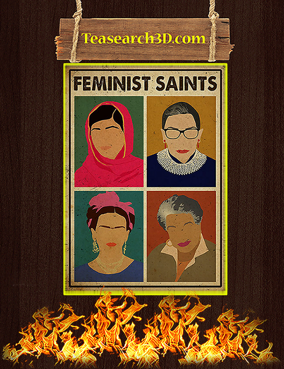 Feminist saints poster A3