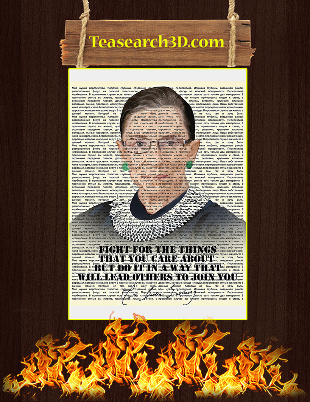 Fight for the things that you care about poster A1