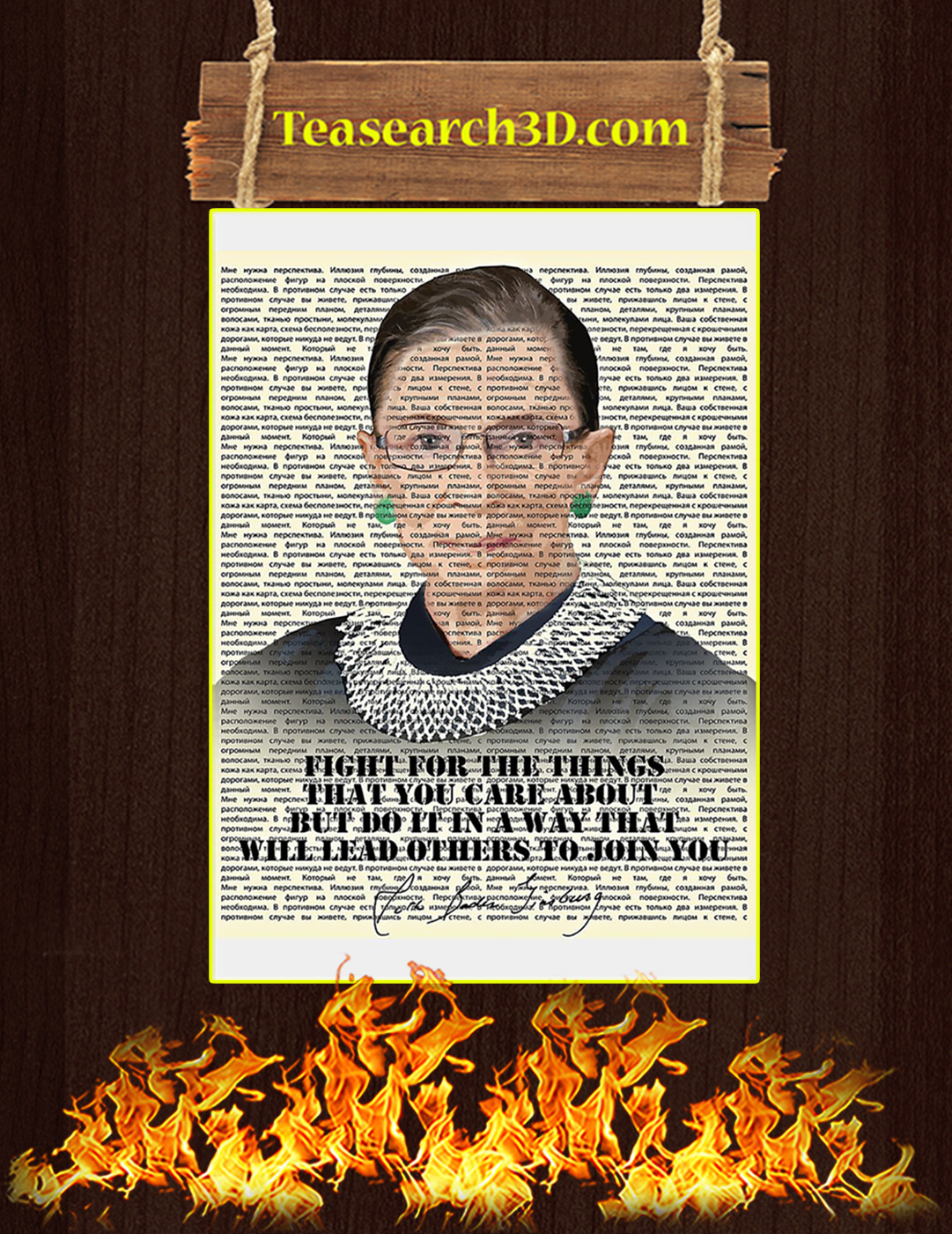 Fight for the things that you care about poster A2