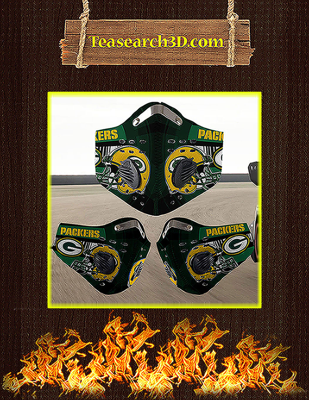 Green Bay Packers filter face mask pack 10