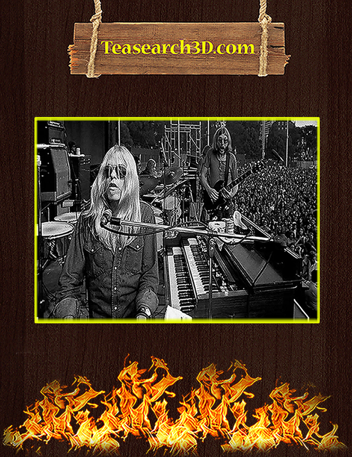 Gregg and Duane Allman Brothers poster A3