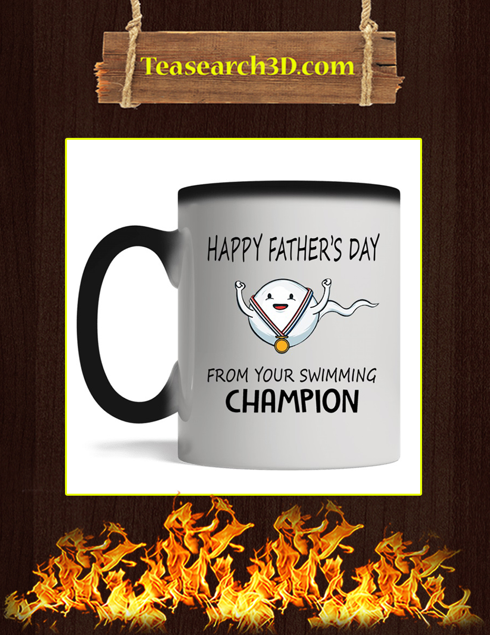 Happy father's day from your swimming champion mug magic