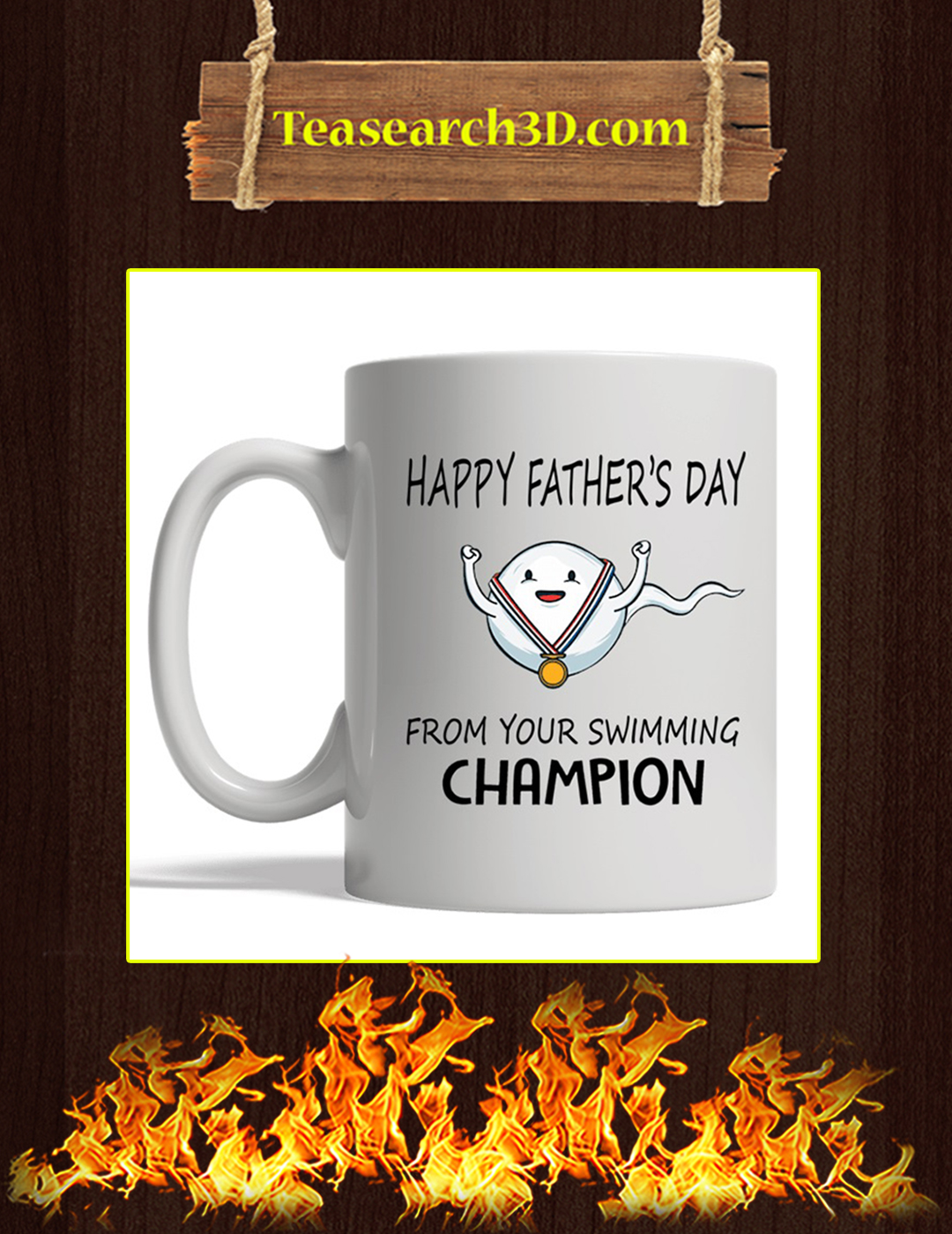Happy father's day from your swimming champion mug white