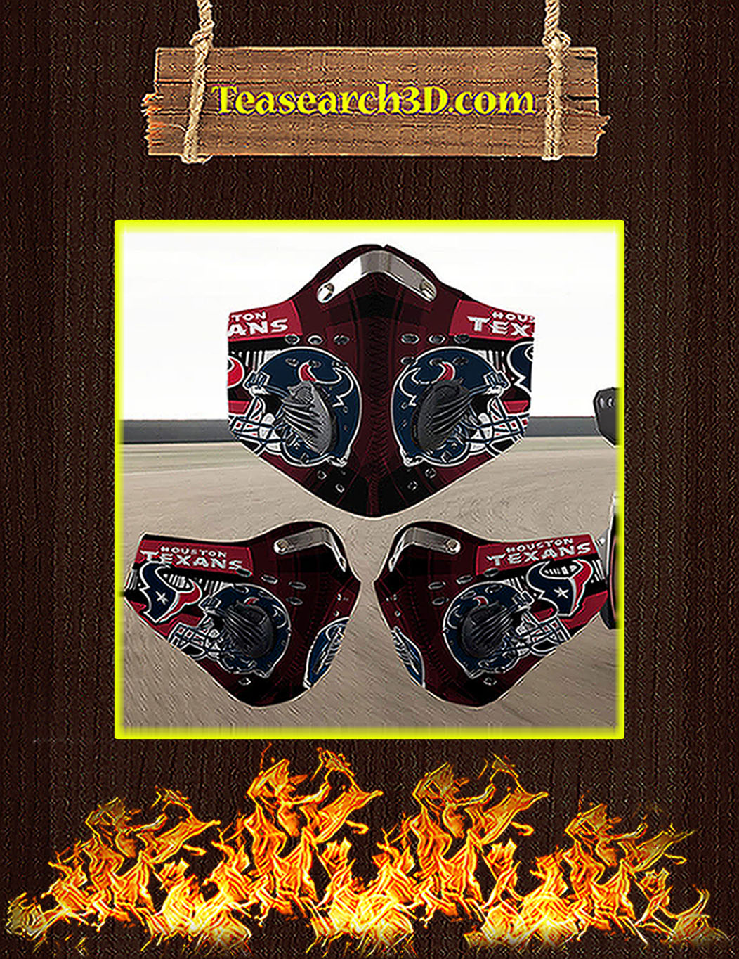 Houston Texans filter face mask pack 5