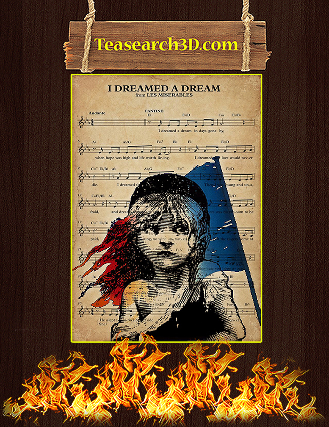 I dreamed a dream poster A3