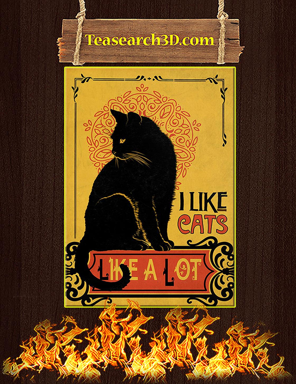 I like cats like a lot poster A3