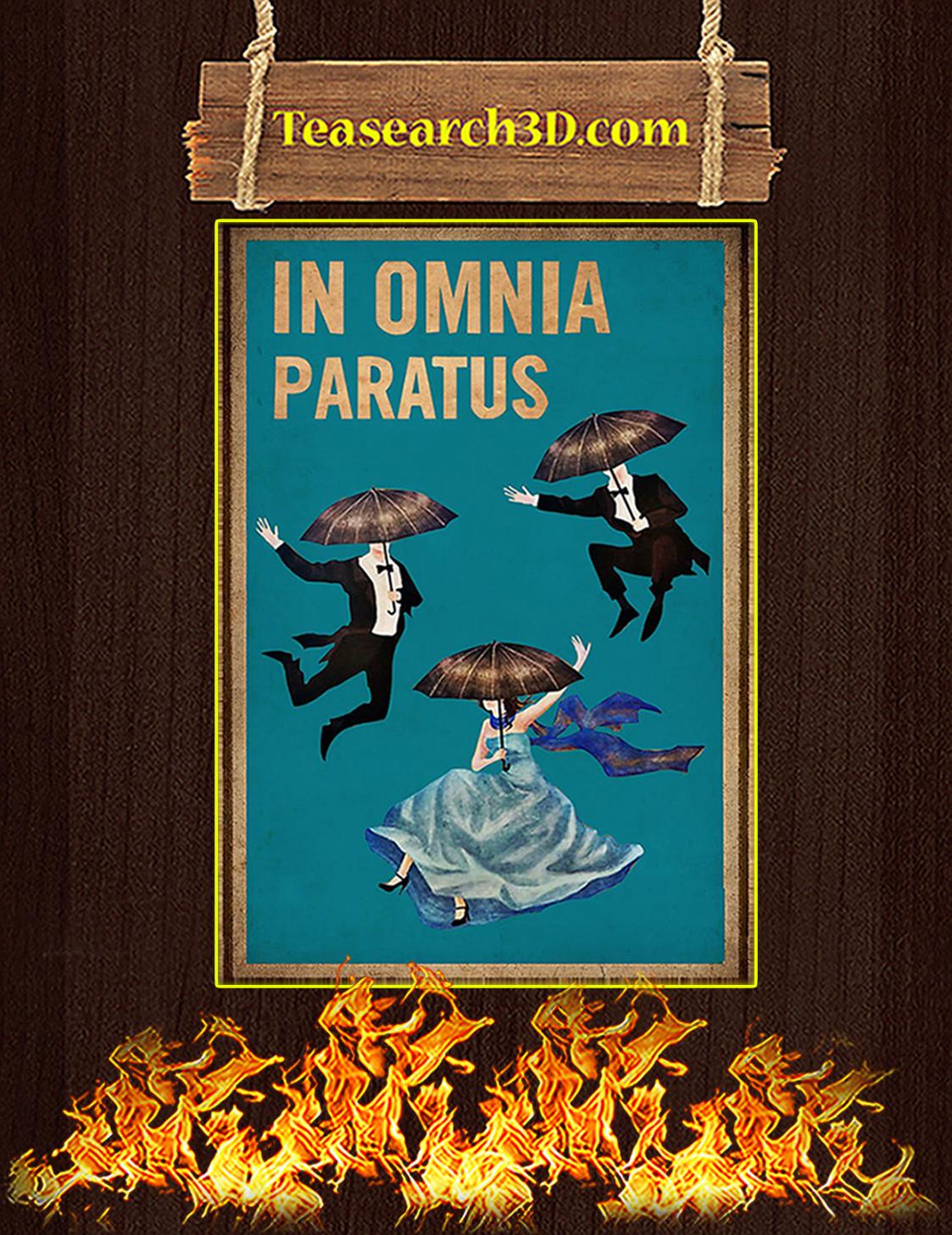 In omnia paratus poster A3