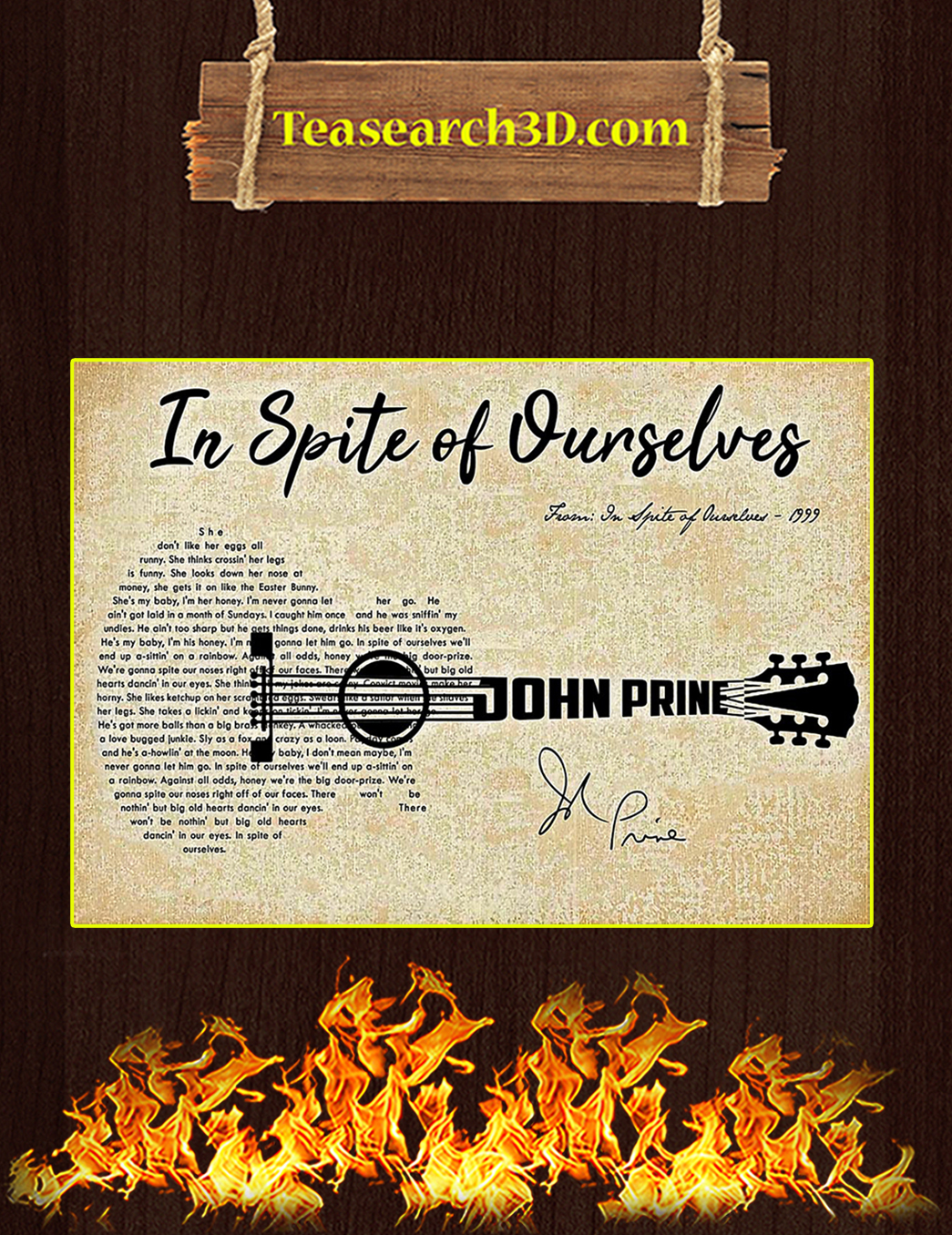 In spite of ourselves John Prine poster A1