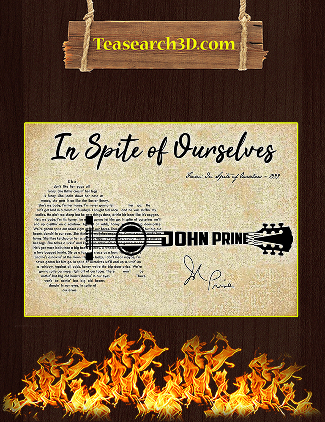 In spite of ourselves John Prine poster A3