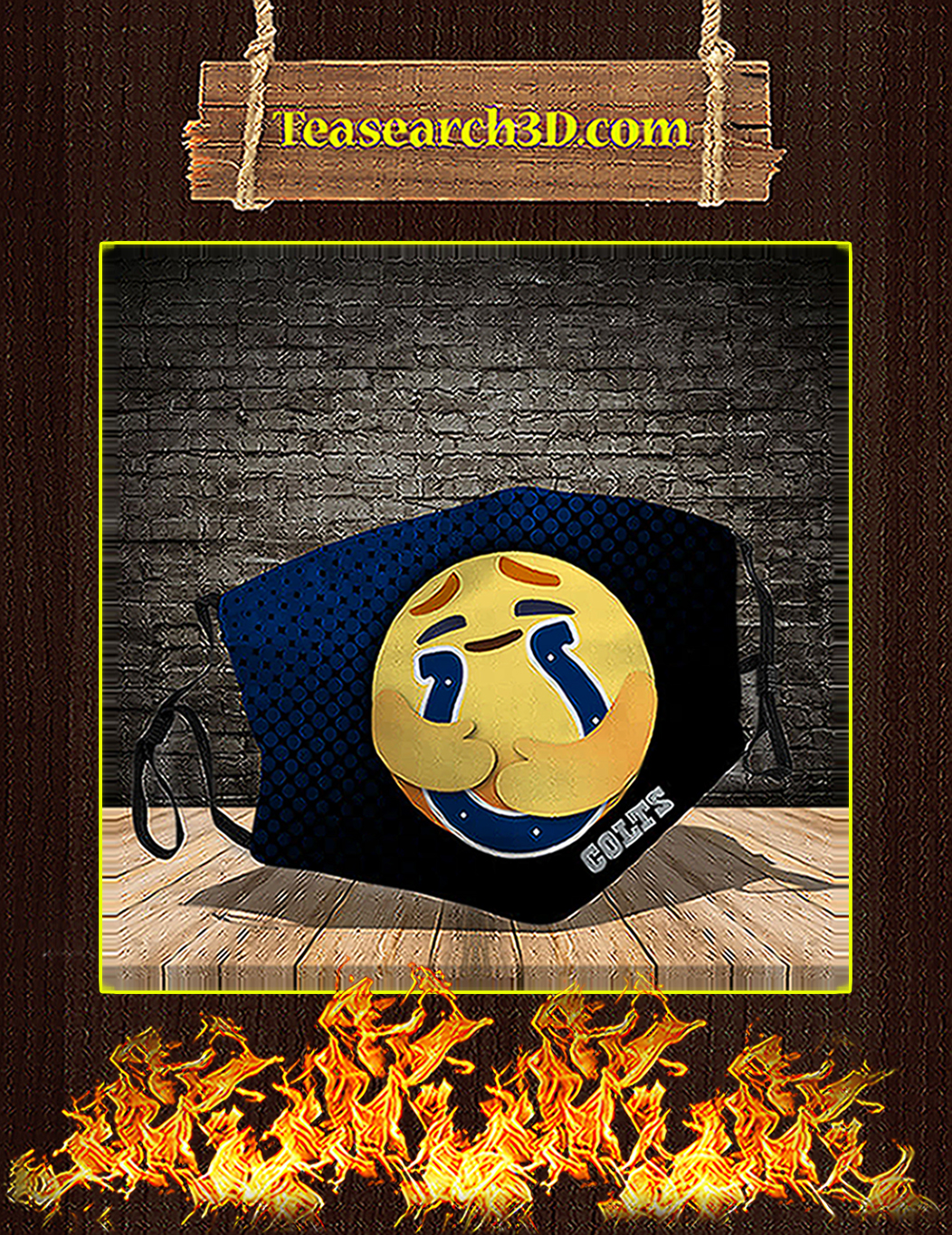 Indianapolis Colts care emoji face mask pack 10