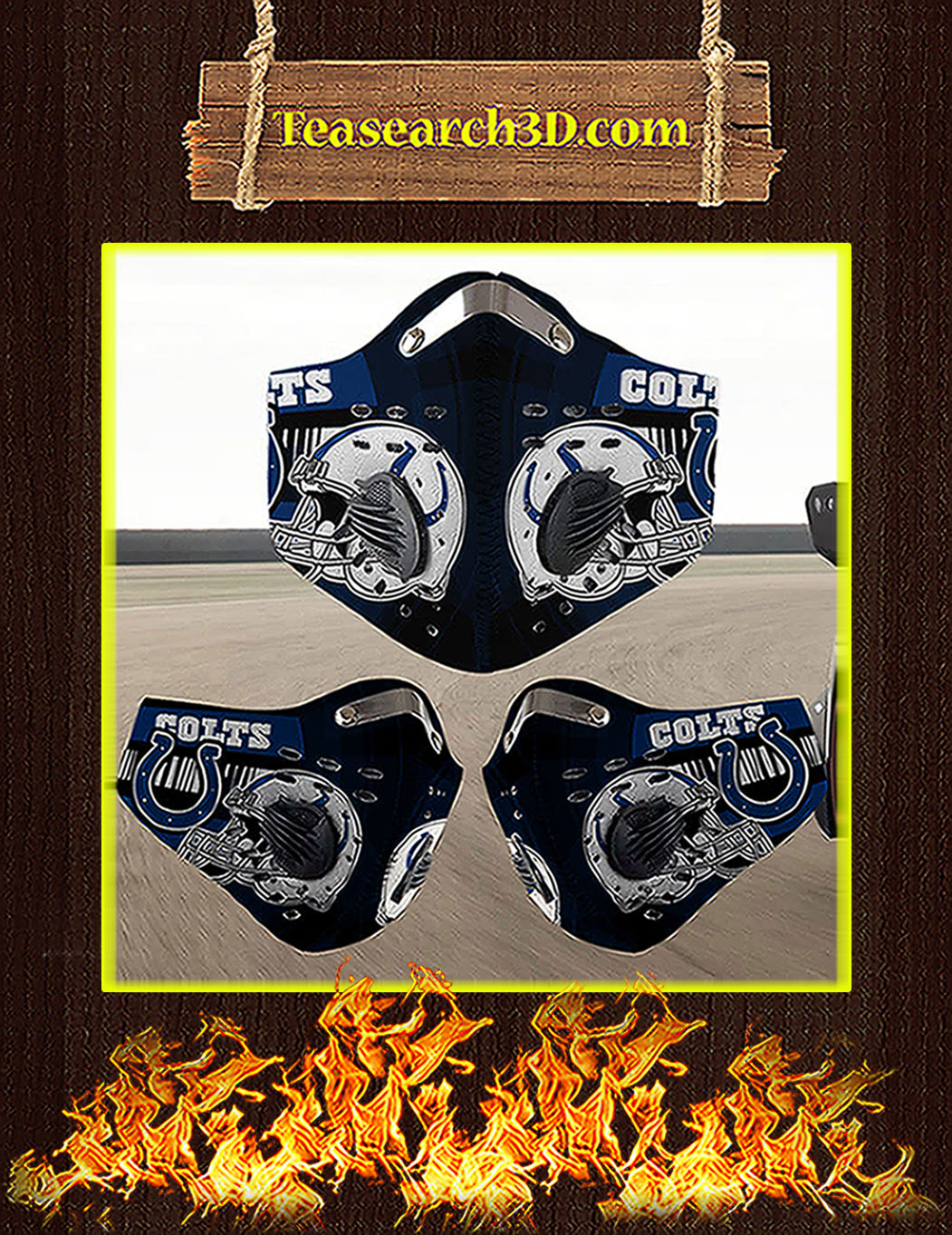 Indianapolis Colts filter face mask pack 5