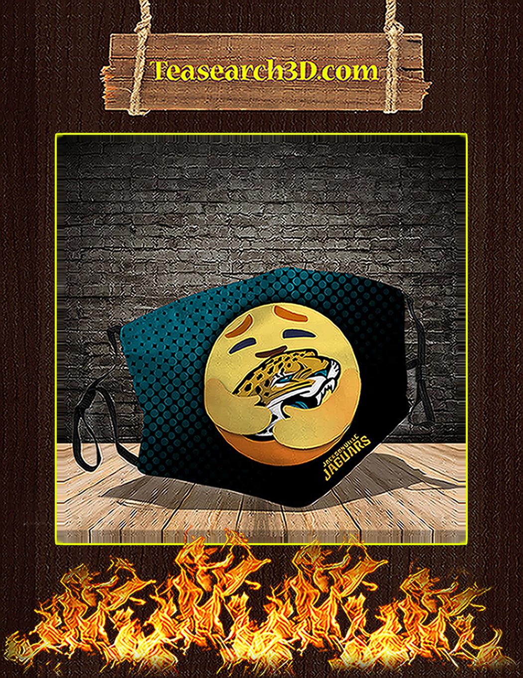 Jacksonville Jaguars care emoji face mask pack 5