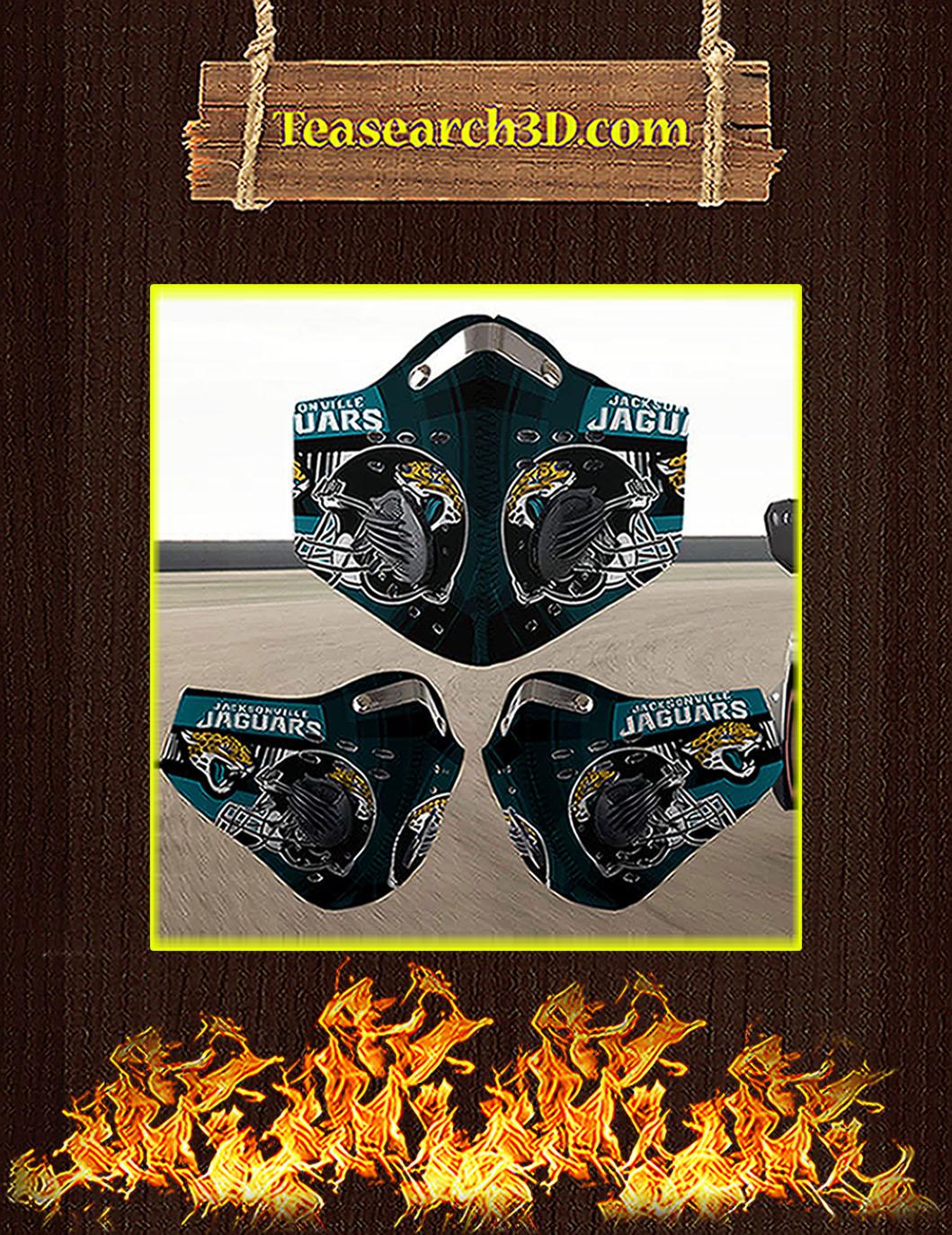 Jacksonville Jaguars filter face mask pack 3