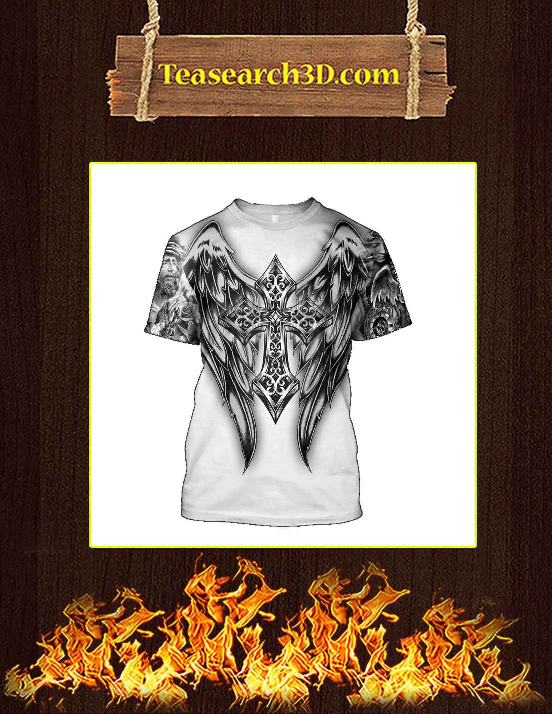 Jesus Tattoo 3D All Over Printe T-shirt