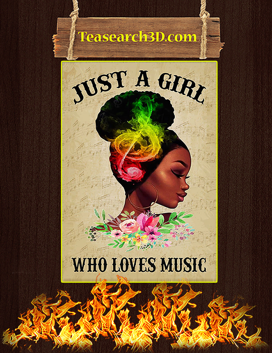 Just a girl who loves music poster A2