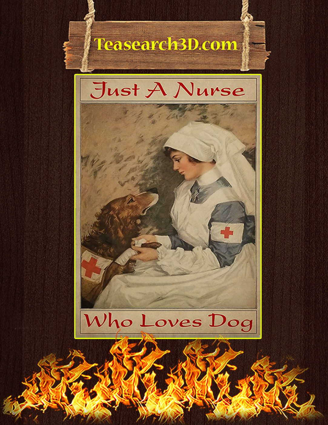 Just a nurse who loves dog poster A2