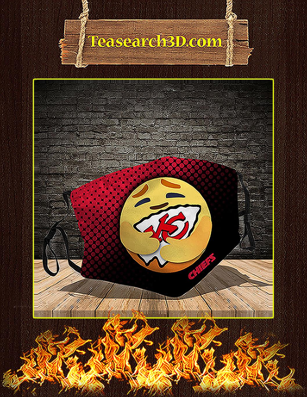 Kansas City Chiefs care emoji face mask pack 5