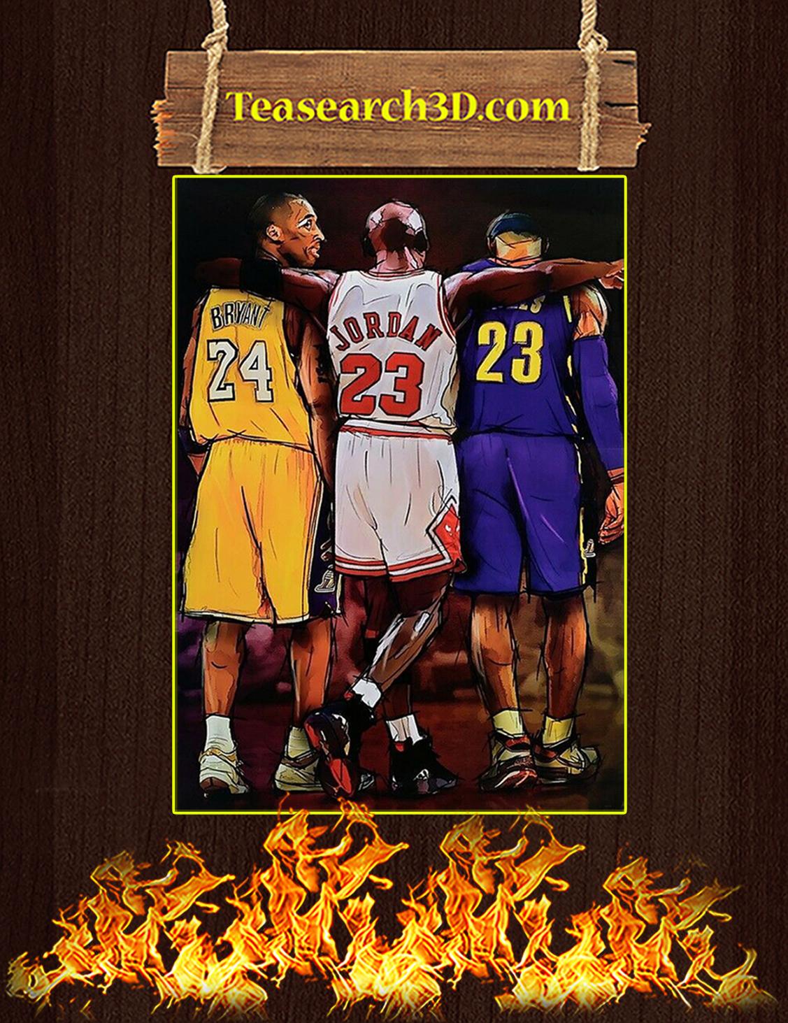 Kobe Bryant Michael Jordan Lebron James poster A3