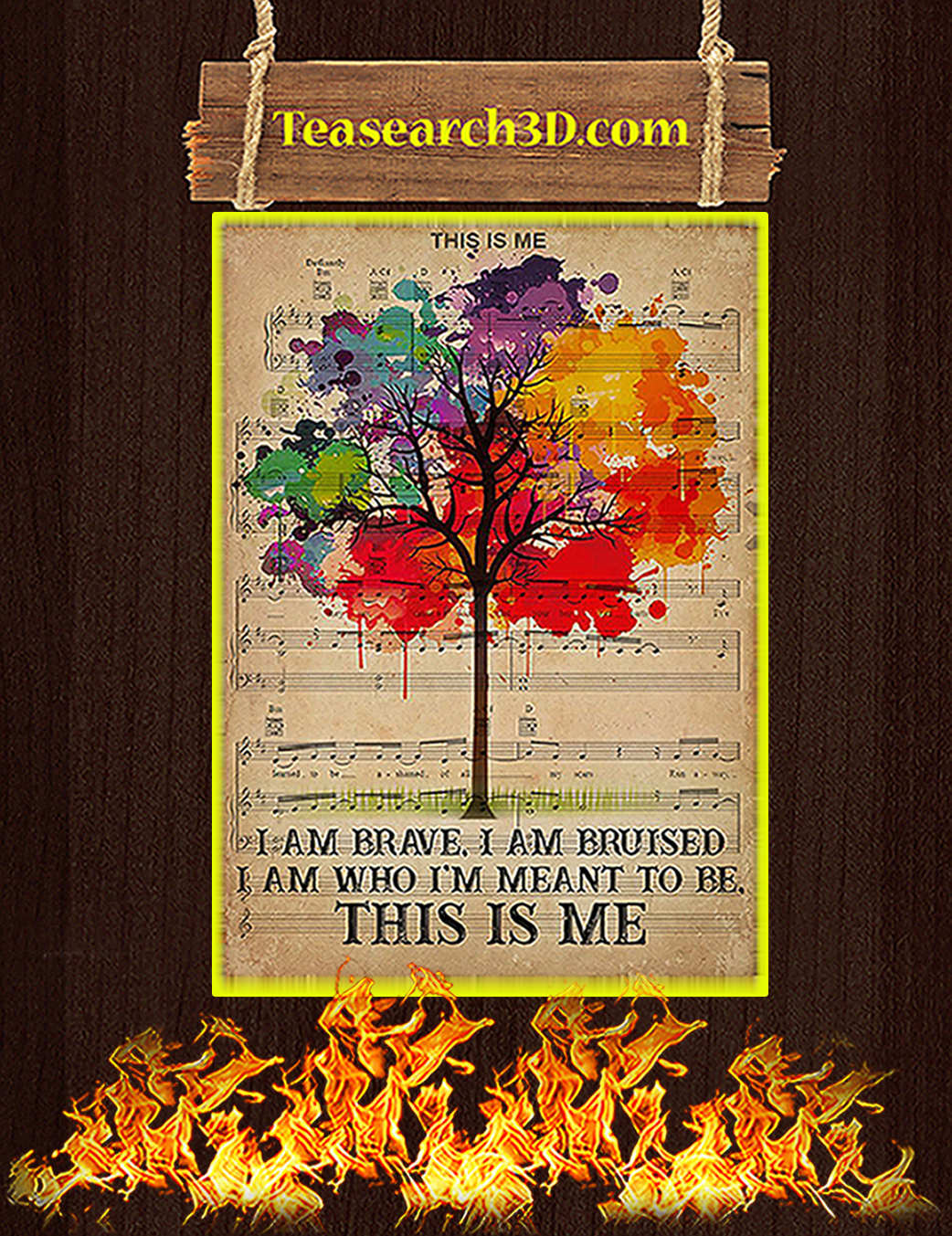 LGBT This is me I am brave poster A1