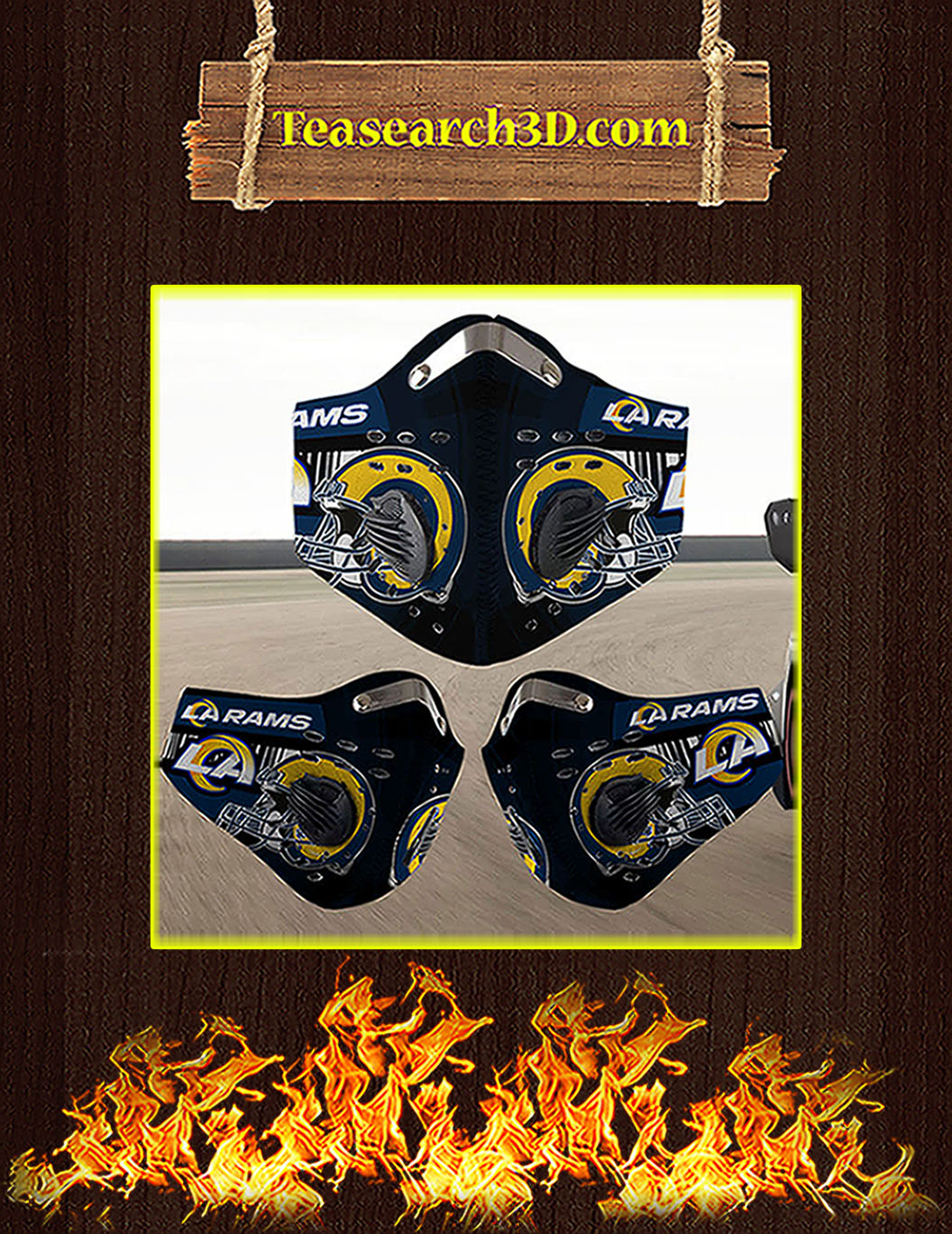 Los Angeles Rams filter face mask pack 5