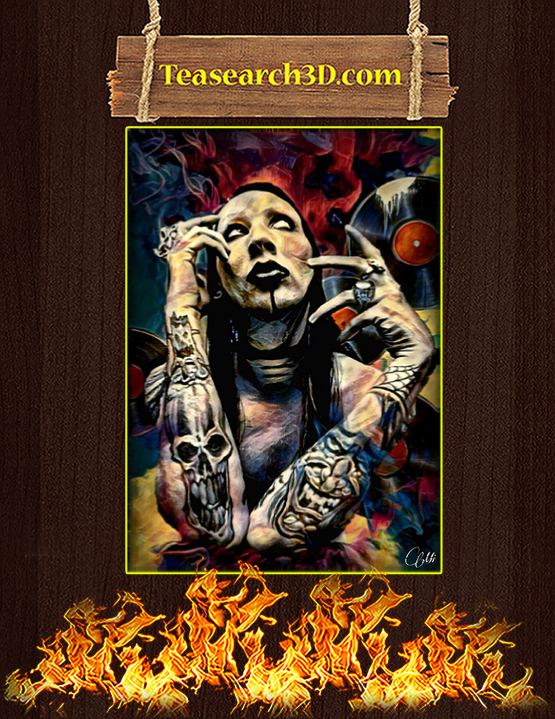 Marilyn manson poster A2