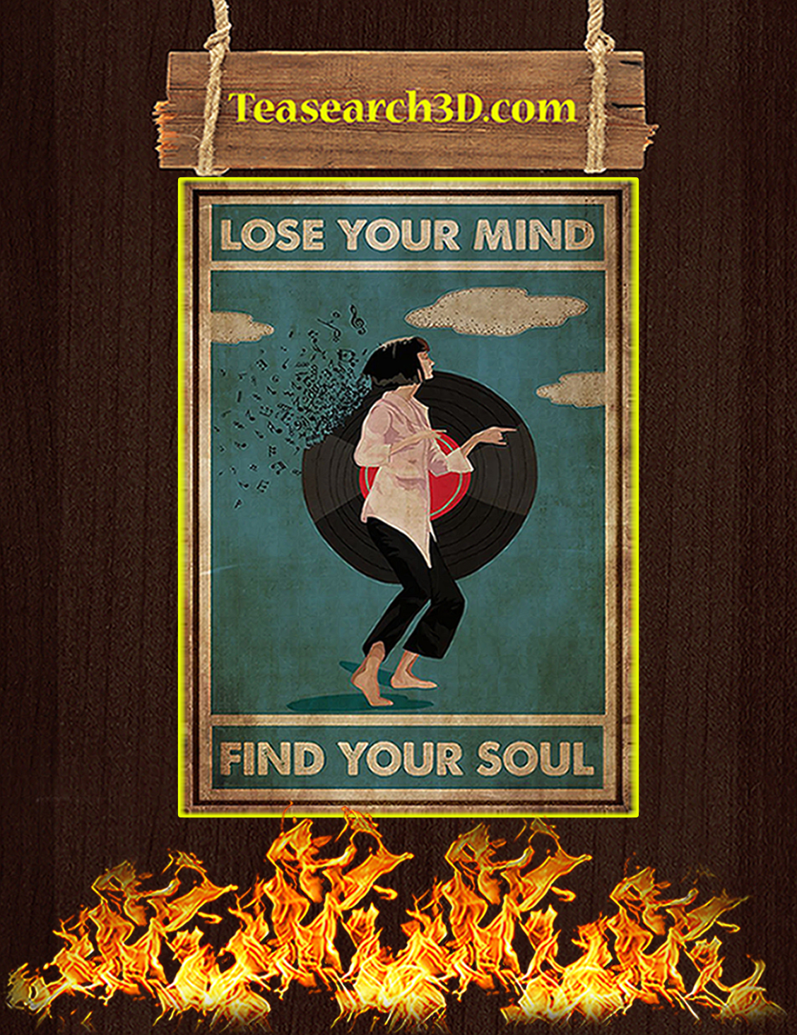 Mia wallace lose your mind find your soul poster A3