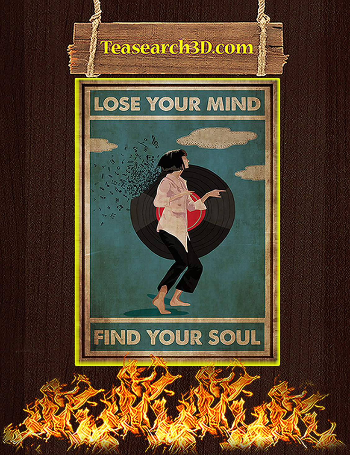 Mia wallace pulp fiction lose your mind find your soul poster A3