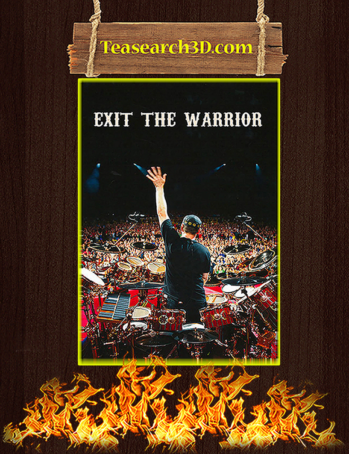 Neil peart exit the warrior poster A3