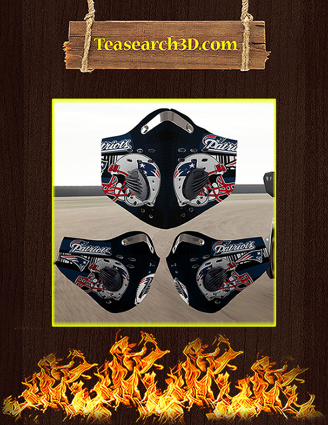 New England Patriots filter face mask pack 5
