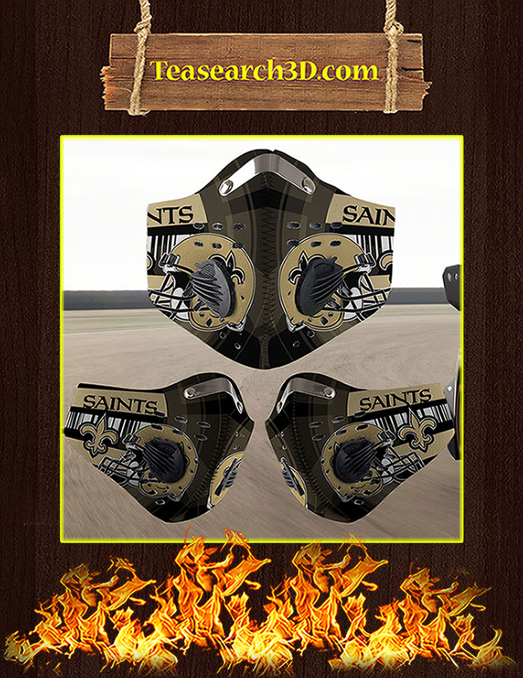 New Orleans Saints filter face mask pack 3