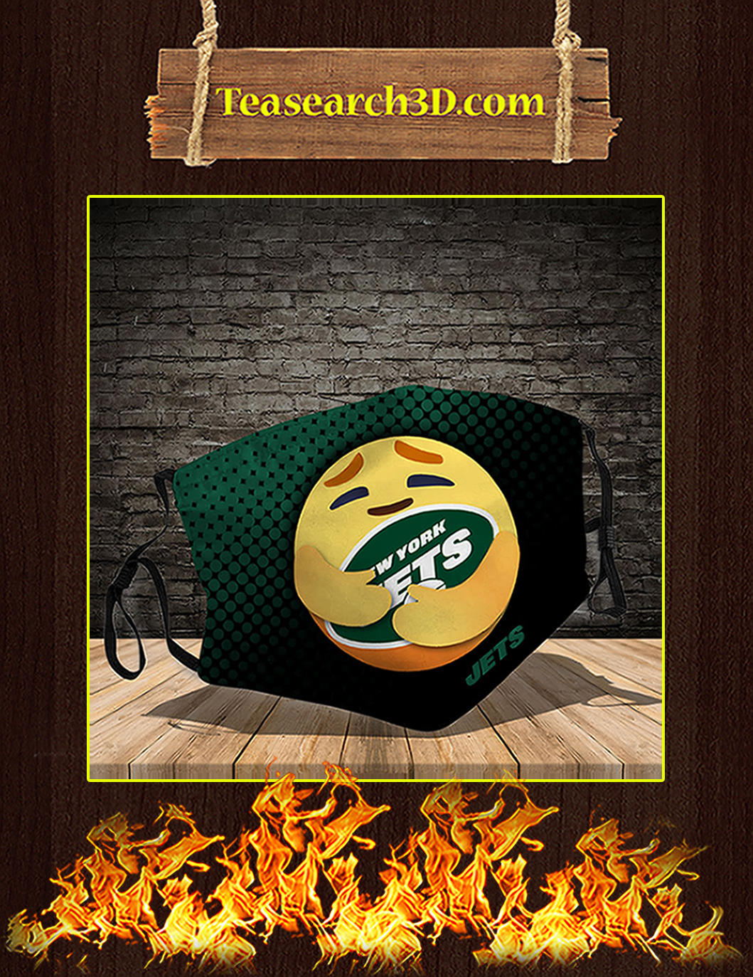 New York Jets care emoji face mask pack 5