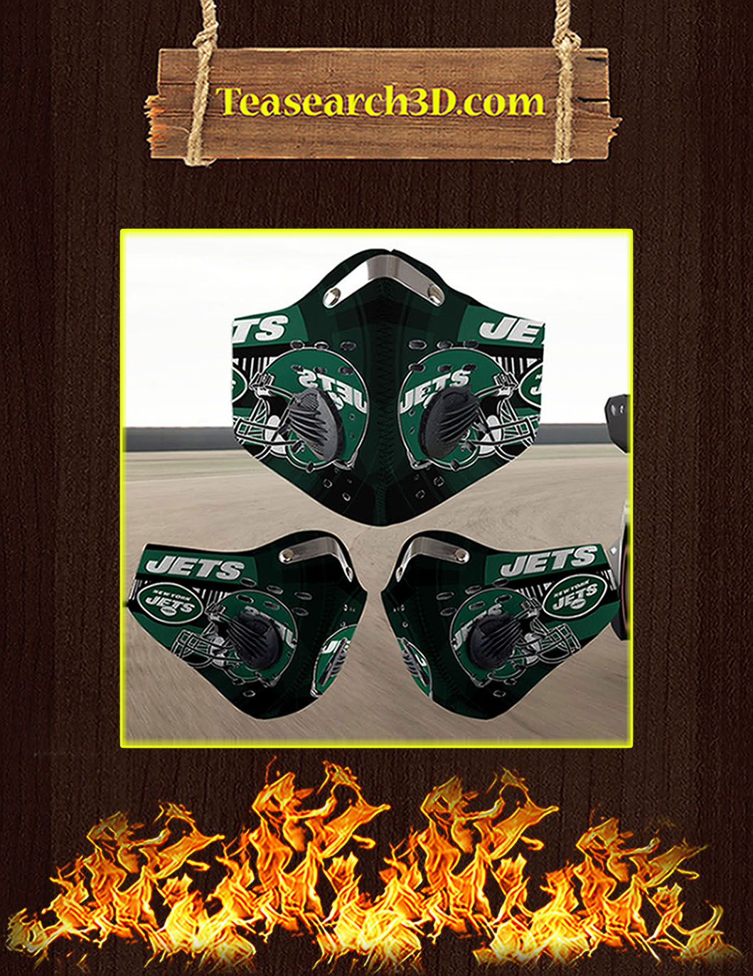 New York Jets filter face mask pack 5